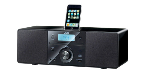 Micro System with CD and top mount iPod dock.