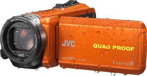 Quad-Proof camcorder with 4GB. - GZ-R440D - Features