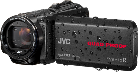 Quad-Proof camcorder with 4GB. - GZ-R440B - Features